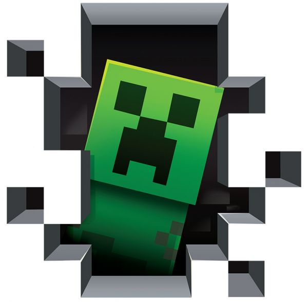Minecraft Creeper 3D Wall Decal/Cling Home Decor Wall