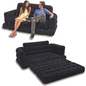 Magnificent Intex Two Person Inflatable Pull Out Sofa Bed Black Alphanode Cool Chair Designs And Ideas Alphanodeonline