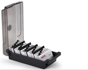 Sale on office deflecto single business card buy office deflecto business card holder rolodex with alphabet reheart Images