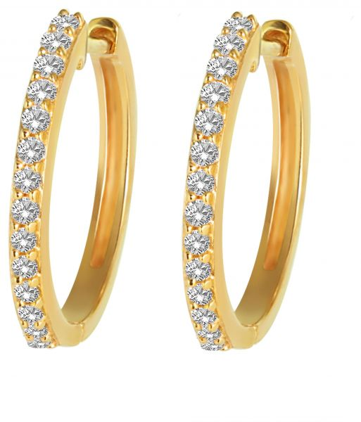 Pure Gold Jewellers 18k Solid Hoop Earrings
