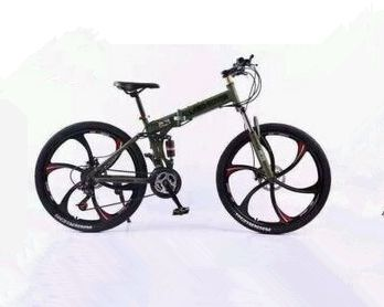 26 Inch Land Rover Mountain Bike Suspension Folding Bicycles Black