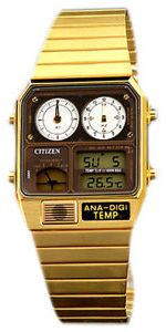 on citizen watches gold colour buy citizen watches gold citizen jg2002 53w quartz mens watch gold stainless steel brown dial
