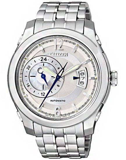 Citizen NP3000-54A Automatic Mens Watch White Stainless Steel White Dial