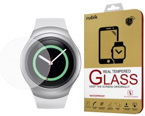 For Gear S2 - Rubik Real Tempered Glass Screen Protector For Samsung Gear S2 SM-R720