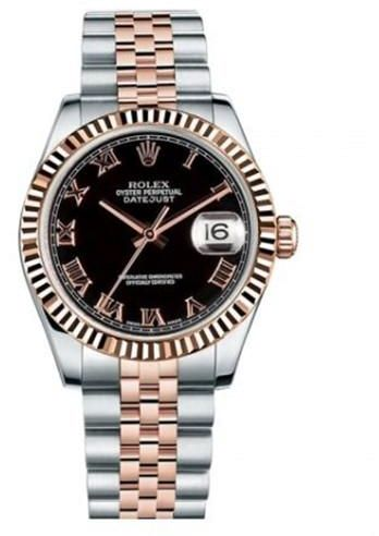 Rolex Oyster Perpetual Datejust Women s Diamond Dial 18K Rose Gold  Stainless Steel Band Automatic Watch  0c400ecd07