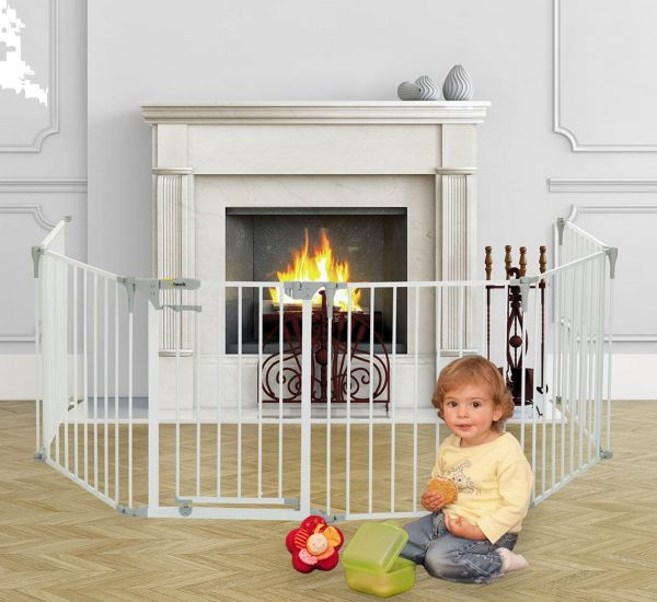 arabian fireplace baby park white playpen and fireplace protection price review