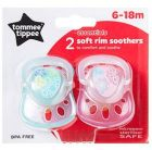 Tommee Tippee TT43300810 Soft Rim Soothers, 6 to 18 months, Blue/Pink (Feeding)