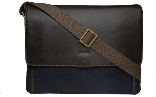 cfb299b1a43c Hidesign Aiden 01 Large Messenger Bag for Men - Canvas   Genuine Leather