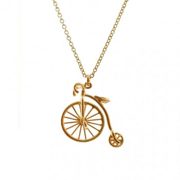 Buy penny farthing bicycle pendant in 18k yellow gold necklaces 59500 aed aloadofball Image collections