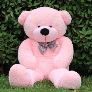 Gift Teddy Bear for Children and Female Huge Size 140CM (Pink) 30a0cfc064