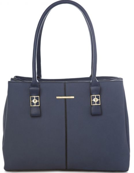 Susen Stylish Top Handle Bag For Women Leather Navy Blue
