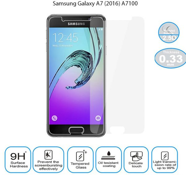 Tempered Glass Screen Protector for Samsung Galaxy A7 (2016) A7100