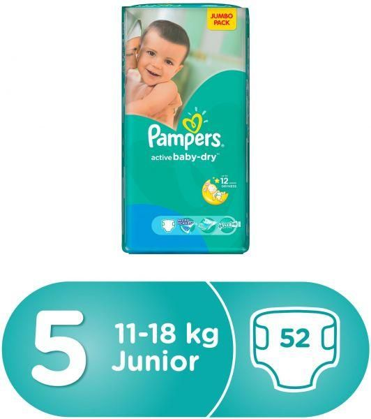 Souq Pampers Active Baby Dry Diapers Size 5 Jumbo Pack