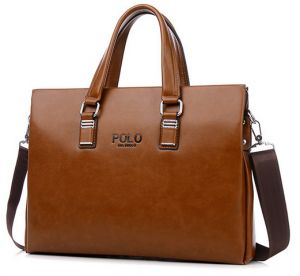 Business Style Casual Leather Messenger bag handbag computer packages for  men BY-55 Brown f46741fed32ed