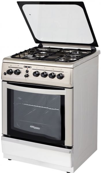 Souq Super General Oven With 4 Gas Cooker Silver Sgc
