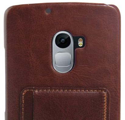 timeless design 6fd03 da5c8 Lenovo K4 Note A7010 Leather Coated Phone Case Cover with Card Holder- Brown