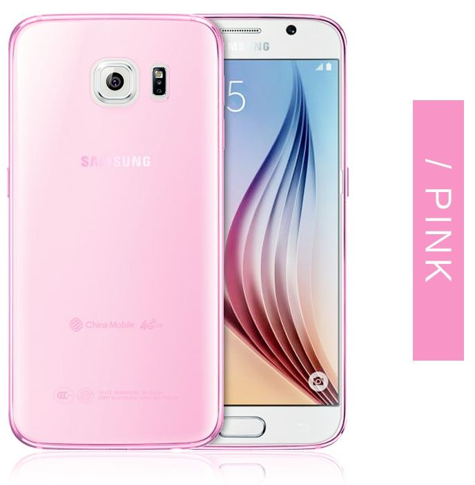 YLE Back case for Samsung Galaxy S7 Edge Silicone slim pink transparent  cover protective sleeve EDS7-07C