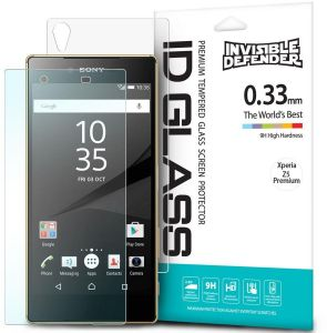 Rearth 0.33mm Invisible Defender 9H Tempered Glass Screen Protector for Sony Xperia Z5 Premium