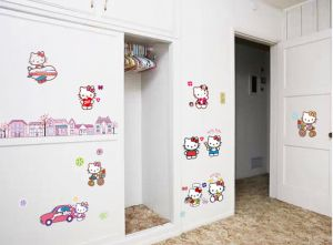 Hello Kitty Beautiful Childrens Room Fashion Decorative Wall Stickers Part 68