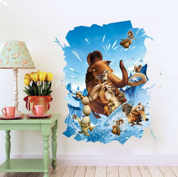 Souq Ice Age Animal Stereo Stickers For Kids Rooms Decals Home Decor Wall Decoration Oman