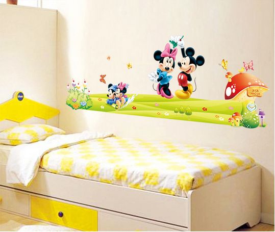Mickey Mouse Cartoon Children Room Decoration Stickers Background ...