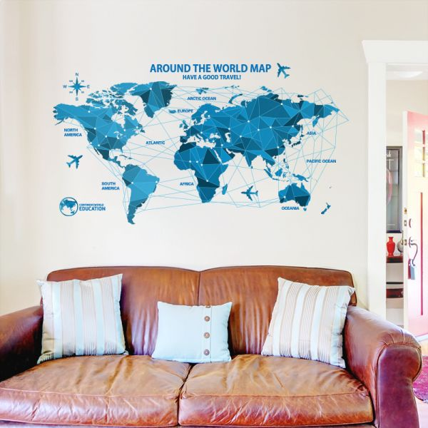Origami world map home furnishing office workplace personality origami world map home furnishing office workplace personality fashion wall stickers decoration price review and buy in dubai abu dhabi and rest of gumiabroncs Image collections
