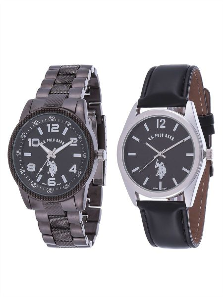 on watches buy watches online at best price in dubai abu u s polo assn watch set for men analog stainless steel usp 107