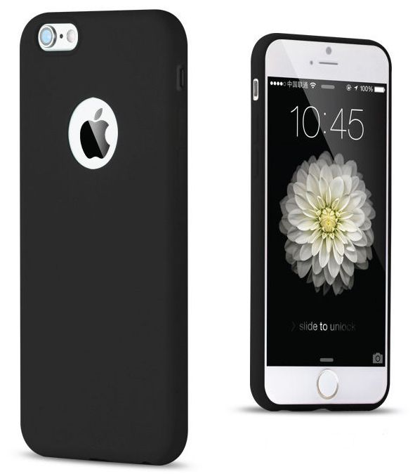 Soft TPU Silicon Cases for iPhone 6 6S Black Color