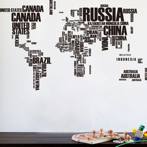 Souq english alphabet world map wall stickers removeable home english alphabet world map wall stickers removeable home decor creative mural gumiabroncs Image collections