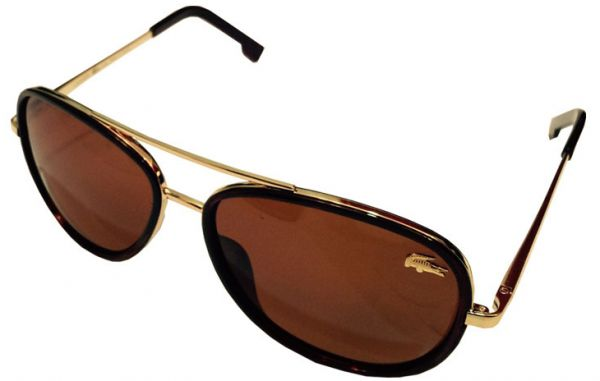 955f27ffea9 Sunglasses For unisex From Lacoste -Color Brown  Gold