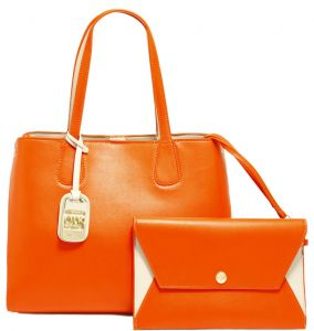 Dilaks 26069 Tote Bag For Women Synthetic Orange