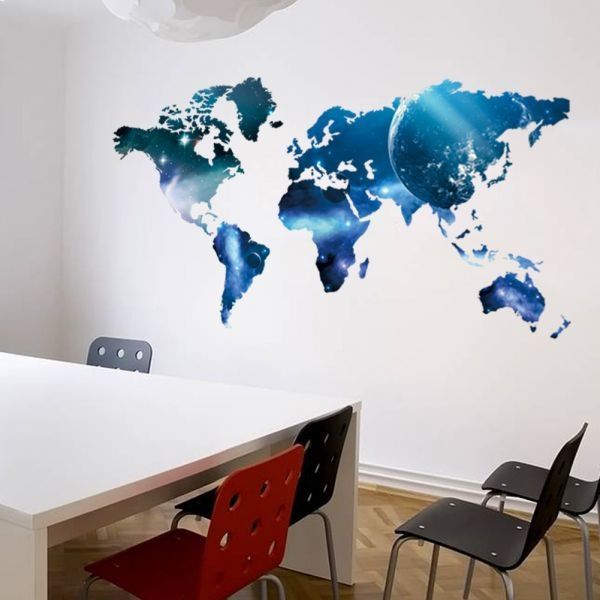 World map wall sticker for kids rooms decals home decor decoration world map wall sticker for kids rooms decals home decor decoration gumiabroncs Image collections