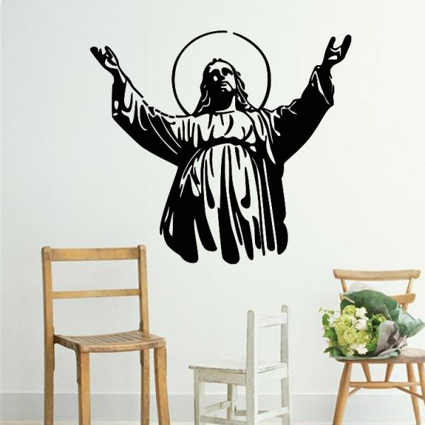 Christian character jesus stickers simple wall stickers for Christian wall mural