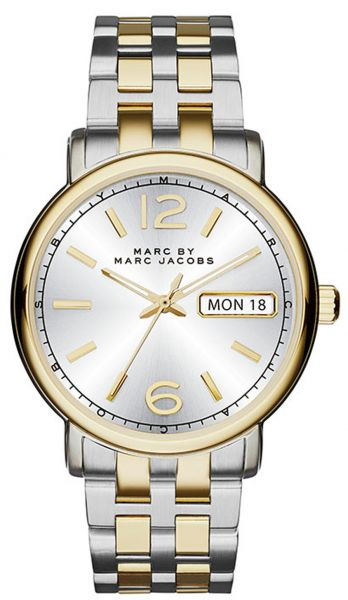 marc by marc jacobs fergus womens silver dial stainless