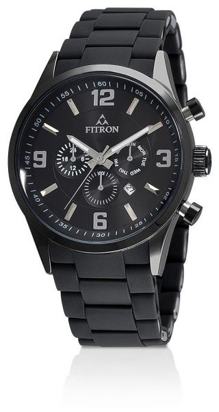 8b7f1a5289528 Fitron Watch for Women - Casual Watch Black Band - FT8104M020202 ...