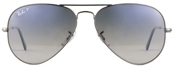 4b148d18f6e Ray-Ban Men Polarized Aviator Sunglasses-Gunmetal Frame -Blue Grey ...