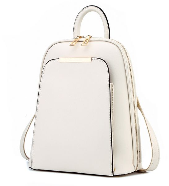 White Women Leather Backpack Women School Bags Satchel Travel Bag ... 5104ff46e