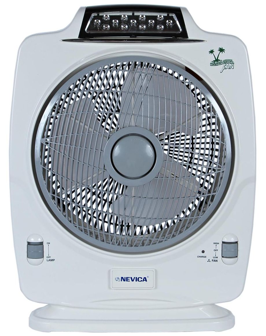 Nevica 12 Inch Rechargeable Table Fan with LED Light - NV-2334