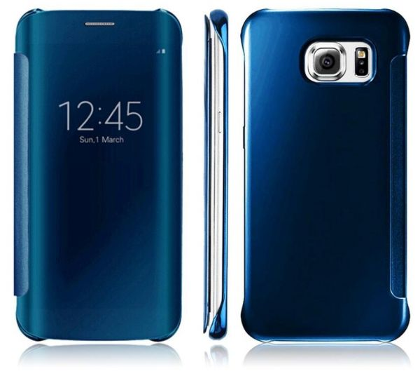 Clear View Flip Cover For Samsung Galaxy S7 Edge - Blue (screen protector)    Souq - UAE be7c5aeac81f