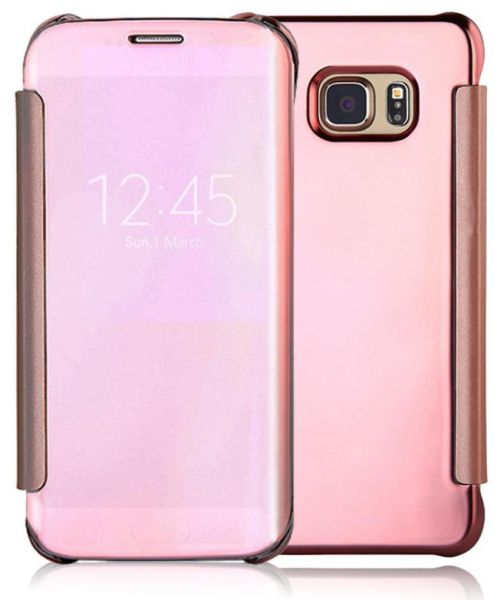 clear view flip cover for samsung galaxy s7 edge rose. Black Bedroom Furniture Sets. Home Design Ideas