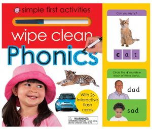 Wipe Clean Phonics by Roger Priddy - Board Book