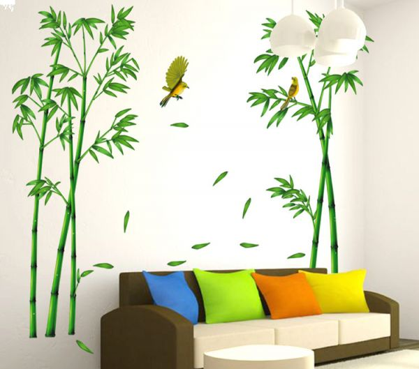 diy removable wall stickers bamboo home room decor | souq - uae