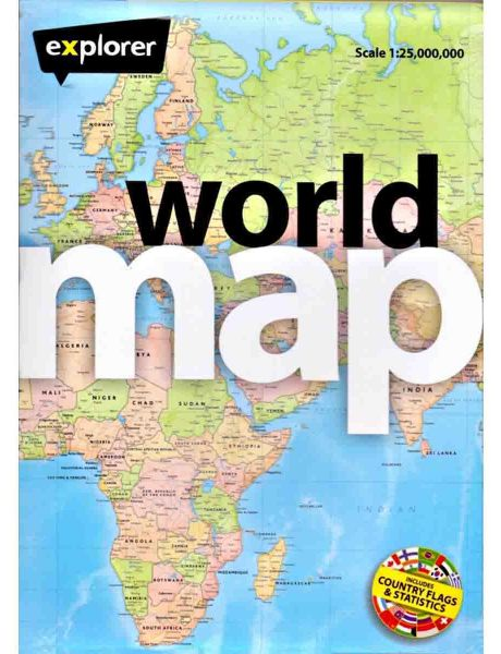 Explorer Publishing Folded World Map price review and buy in