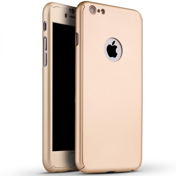 360 Degree Full Body Protection Case Rose Gold For iPhone 6 6S ... 3a51d7ee40adf