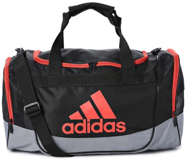 Adidas Defender II Small Duffel Bag for Unisex - Black Grey Bold ... 087aca09c8d53