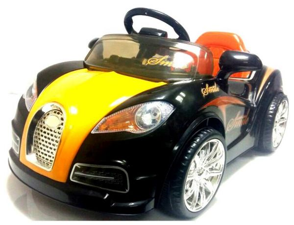 bugatti kids ride on car rechargeable black