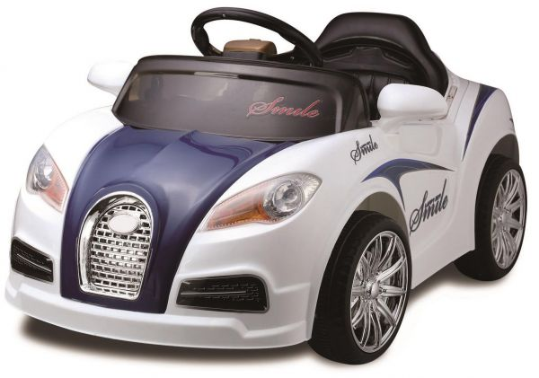 bugatti kids ride on car rechargeable blue