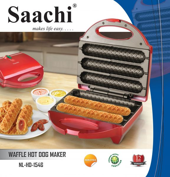 souq saachi waffle hot dog maker nl hd 1546 red uae. Black Bedroom Furniture Sets. Home Design Ideas