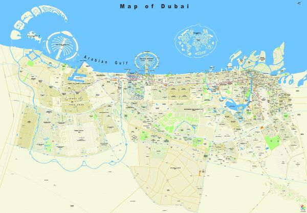 Map of Dubai Gloss Finish Roll up price review and buy in Dubai