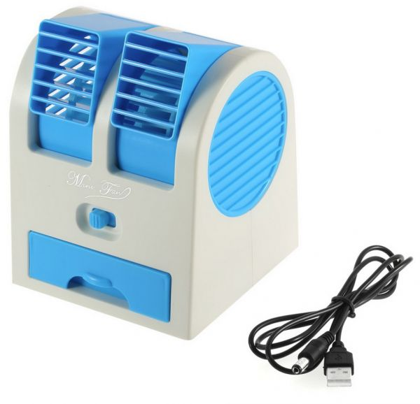 mini cooling fan usb battery operated portable air conditioner cooler blue color souq uae. Black Bedroom Furniture Sets. Home Design Ideas